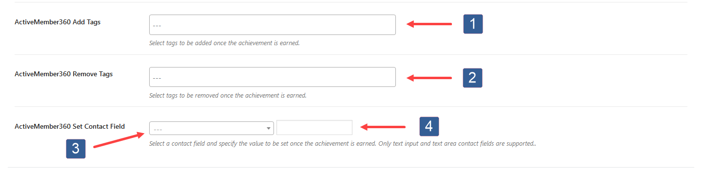Configuring Actions When Achievement Earned