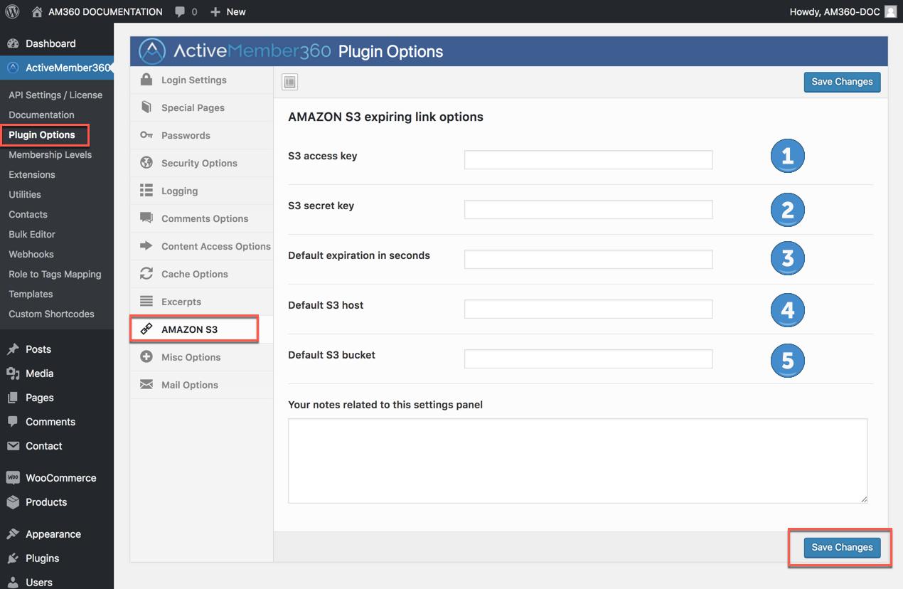 Amazon S3 Expiring Link Options