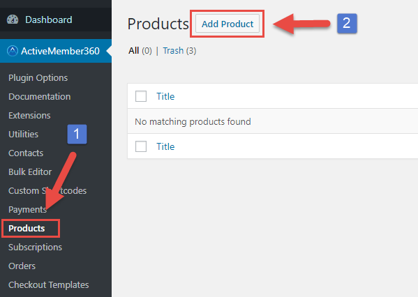 Payment Extensions Create a Product Step 1