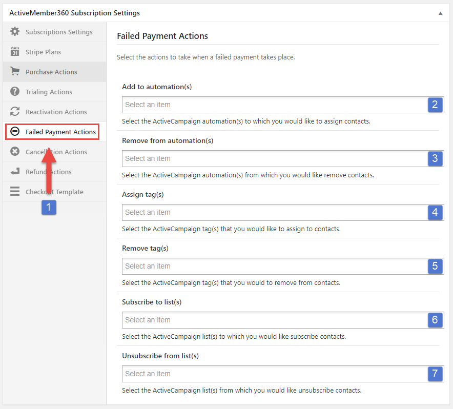 Payments Extension – Create a Subscription – ActiveMember360